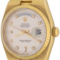 Rolex Day-Date Oysterquartz Yellow gold 35mm Silver No numerals