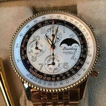 Breitling Yellow gold Automatic Silver Arabic numerals 42mm new Montbrillant Olympus