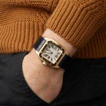 Cartier Santos 100 Жёлтое золото 38mm Белый Римские
