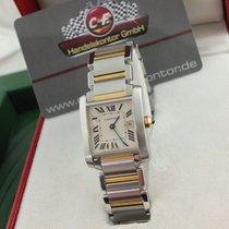 Cartier gebraucht Quarz 25mm Weiß Saphirglas 10 ATM