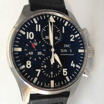 IWC Pilot Chronograph Acero 43mm Negro Sin cifras