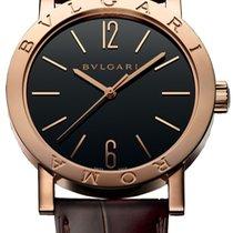 Bulgari Rose gold Manual winding Black new Bulgari