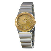 Omega Ladies 12320276058002 Constellation  Diamond Gold  Watch