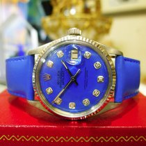 Rolex Oyster Perpetual Datejust Diamonds Stainless Steel Gold...