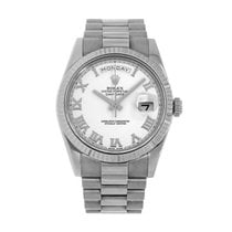 Rolex Day-Date II White gold 41mm Silver No numerals United States of America, New York, New York