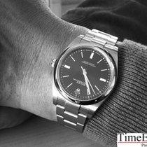 Rolex Oyster Perpetual 39 Index blau perfektes Fullset LC 100