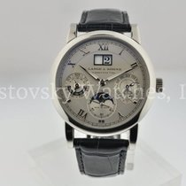 A. Lange & Söhne Langematik Perpetual Platinum 38.5mm Silver Roman numerals United States of America, California, Beverly Hills