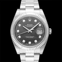 Rolex White gold Automatic Grey 41mm new Datejust