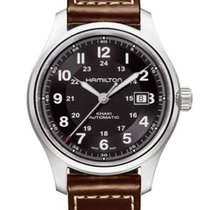 55fd646fd Hamilton Khaki Field Titanium new Automatic Watch with original box and  original papers H70525733
