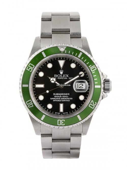5dfa3e2880a Rolex Submariner Date Ghiera Verde Kermit F Serial Fat 4 Mark... for   25