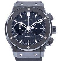 Hublot Classic Fusion Chronograph pre-owned 45mm Black Chronograph Rubber