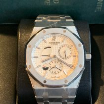 Audemars Piguet Royal Oak Dual Time Acero 39mm Blanco Sin cifras