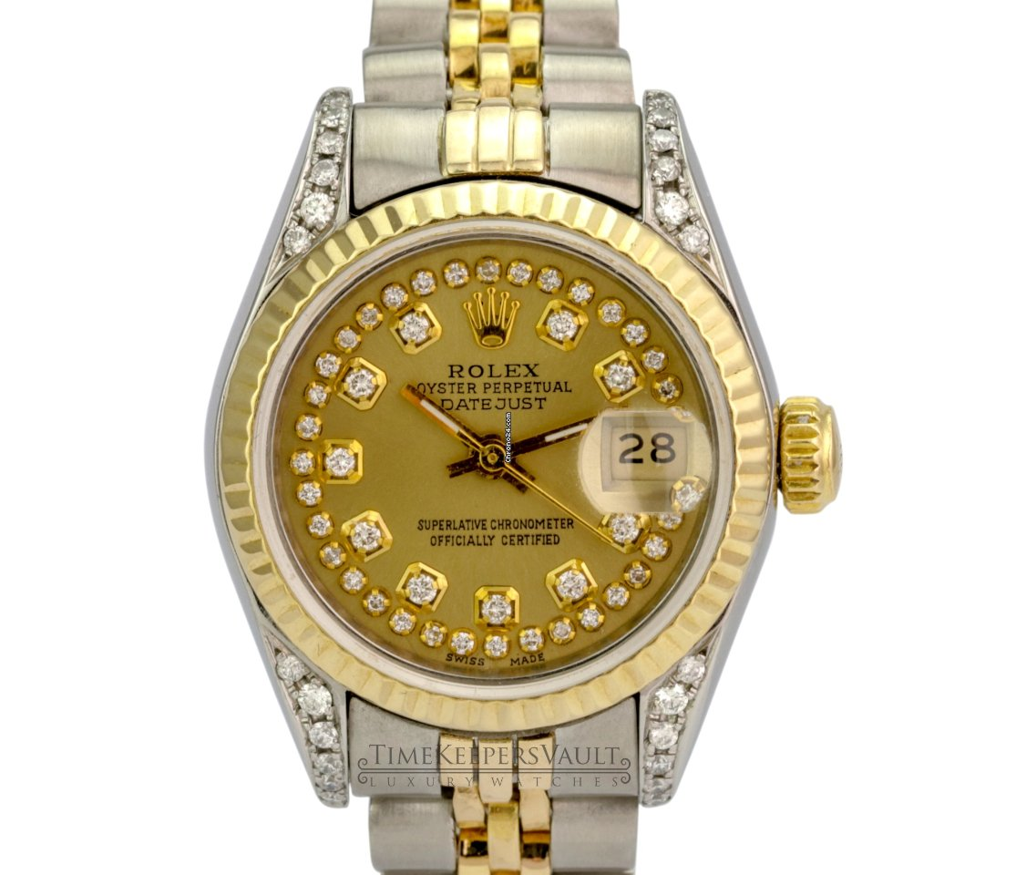 c01d9bfdd48 Rolex Lady-Datejust Champagne Diamond Dial Lugs-Quickset for $3,688 for  sale from a Seller on Chrono24