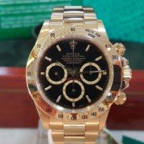 Rolex Daytona Zuto zlato 40mm Crn Bez brojeva