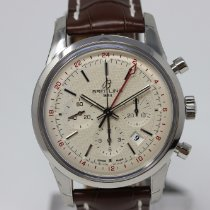 Breitling Transocean Chronograph GMT Acero 43mm Plata