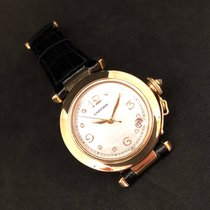 Cartier Pasha C pre-owned Mother of pearl Date Crocodile skin