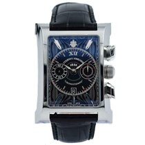 Cuervo y Sobrinos pre-owned Automatic 33mm Black Sapphire Glass