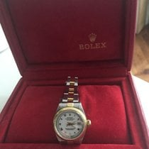 Rolex Oyster Perpetual Lady Date Or/Acier 26mm Blanc France, BEAUNE