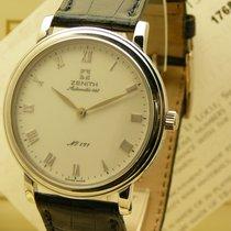 Zenith Platinum Automatic White Roman numerals 35mm new Elite Ultra Thin