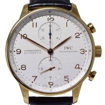 IWC Cronógrafo 41mm Automático 2003 usado Portuguese Chronograph Branco