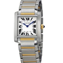 Cartier W2TA0003 Tank Francaise Mid-Size No Date New Style in...