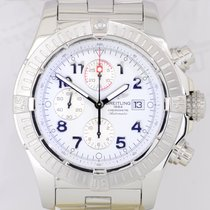 Breitling Super Avenger Chronograph Stahl 48 mm white massive...