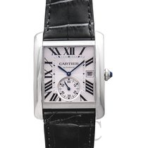 カルティエ Tank MC Watch Large Model Silver Steel/Leather - W5330003