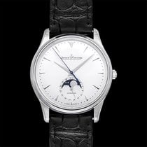 Jaeger-LeCoultre Steel Automatic Silver 39mm new Master Ultra Thin Moon