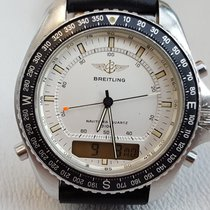 Breitling Pluton Steel 41mm White No numerals