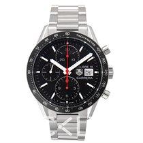 豪雅 TAG Heuer Carrera Calibre 16 Automatic Chronograph Black Ste