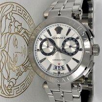 Versace Chronograph 45mm Quarz neu Weiß