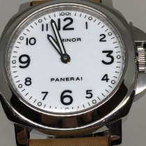 Panerai Luminor Base tweedehands 44mm Wit Leer