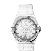 Omega Constellation Quartz Acero 35mm Blanco