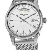 Breitling Transocean Day & Date Steel 43mm Silver United States of America, New York, Brooklyn