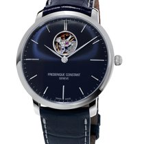 Frederique Constant Slimline Heart Beat Automatic Steel 40mm Blue