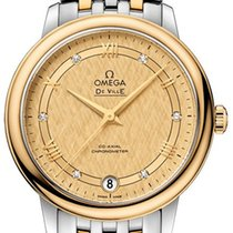 Omega Ceramic Automatic Champagne 32.7mm new De Ville Prestige