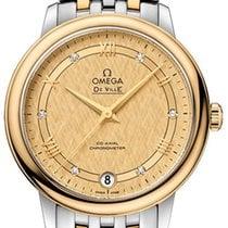 Omega Cerámica Automático Champán 32.7mm nuevo De Ville Prestige