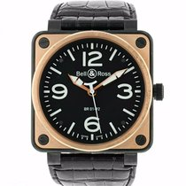 Bell & Ross BR 01-92 pre-owned 46mm Black Leather