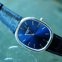 Patek Philippe Golden Ellipse Blue dial Platinum - 5738P-001