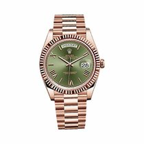 Rolex Day Date 40mm Rose Gold Green Dial - 228235