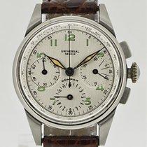 Universal Genève Chronograph 34mm Handaufzug 1940 gebraucht Compax
