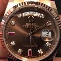 Rolex Cally - 118235 Day-date Choco 8 Diamonds 2 Baguette Ru