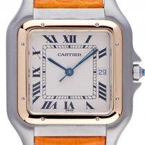 Cartier Santos GM großes Modell Stahl 18kt Gelbgold Quarz...