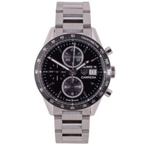 TAG Heuer Carrera Calibre 16 Steel 41mm Black No numerals United Kingdom, Manchester