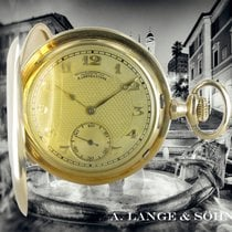 A. Lange & Söhne Watch pre-owned 1924 Yellow gold 52mm Arabic numerals Manual winding Watch only