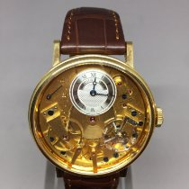 Breguet Tradition Yellow gold 39mm Silver Roman numerals