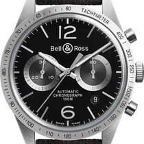 Bell & Ross BRV126-BS-ST/SF Steel 2019 Vintage 42mm new United States of America, New Jersey, Princeton