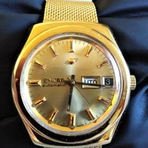 Enicar new Automatic Center Seconds Limited Edition Quick Set Only Original Parts 36mm Gold/Steel Plexiglass