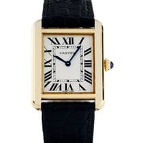 Cartier Tank Solo Yellow gold 31mm Silver Roman numerals