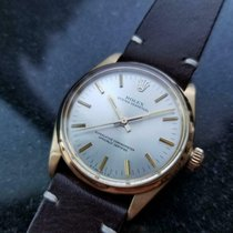 Rolex Oyster Perpetual Yellow gold 34mm Silver United States of America, California, Beverly Hills
